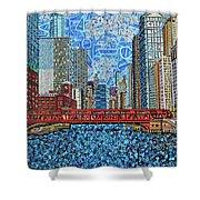 Chicago Wells Street Bridge 2 Shower Curtain