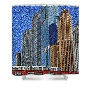 Chicago Wells Street Bridge Shower Curtain