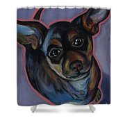 chihuahua Wow Wow Shower Curtain