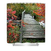 Chikanishing River Bridge Shower Curtain