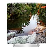 Chikanishing River In Autumn Shower Curtain