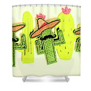 Chili Con Cacti Shower Curtain
