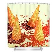 Choc Chip Silos Shower Curtain