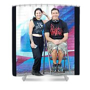 Chris And Alek All Smiles Shower Curtain