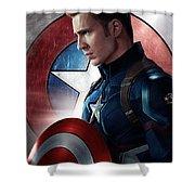 Chris Evans Captain America  Avengers Shower Curtain
