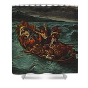 Christ Asleep During The Tempest  Shower Curtain