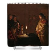 Christ Before The High Priest, 1617 Shower Curtain