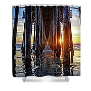 Christmas Eve At The Pier Shower Curtain