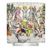 Christmas Fairy Tale Shower Curtain