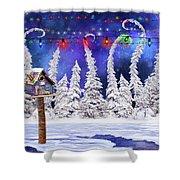 Christmas Lights Shower Curtain