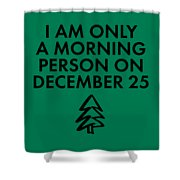 Christmas Morning Person Shower Curtain by Nancy Ingersoll