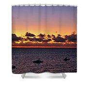 Christmas Morning Sunrise Shower Curtain by Jeremy Hayden