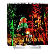 Christmas Red And Green Shower Curtain