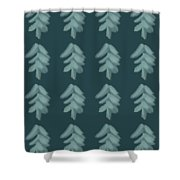 Christmas Tree Pattern Shower Curtain