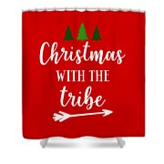 Christmas With The Tribe Shower Curtain