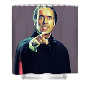 Christopher Lee As Dracula Shower Curtain