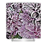 Chrysanthemum Abstract. Shower Curtain