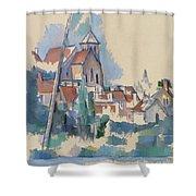 Church At Montigny Sur Loing, 1898  Shower Curtain