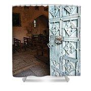 Church Door Tremouille Auvergne Francd Shower Curtain