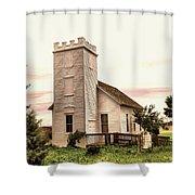 Church In Bowman North Dakota Shower Curtain