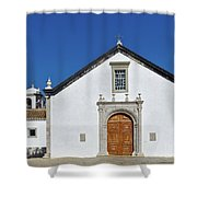 Church Of Cacela Velha In Portugal Shower Curtain