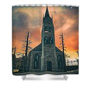 Church Of Days Past Shower Curtain