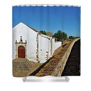 Church Of Misericordia In Medieval Castle Shower Curtain