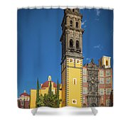 Church Of San Francisco In Puebla Shower Curtain