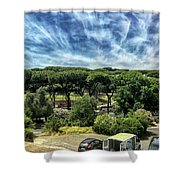 Cielo E Pineas Shower Curtain