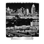 Cincinnati Covington And Ohio River Shower Curtain