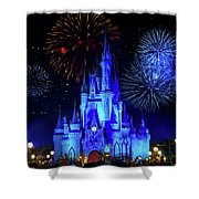 Cinderella Castle Fireworks Shower Curtain