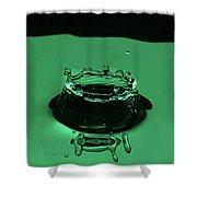 Circle Water Dance Green Shower Curtain
