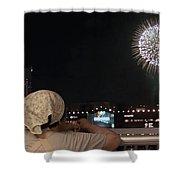 City Fireworks Shower Curtain