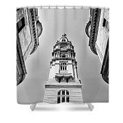 City Hall In Center City Philadelphia In Black And White Shower Curtain