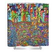 City Meets The Bay Shower Curtain