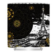 City Of Lights - Kaleidoscope Moon For Children Gone Too Soon Number 6  Shower Curtain