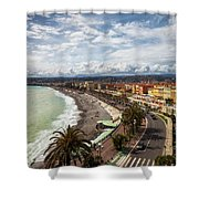 City Skyline Of Nice In France Shower Curtain