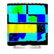 Cityscapec 4000 Original Fine Art Painting Digital Abstract Triptych Shower Curtain by G Linsenmayer