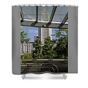 Civic Center Metro Station Los Angeles Shower Curtain