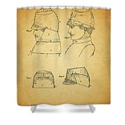Civil War Military Hat Shower Curtain