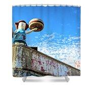 Clam Bar Theme Park Coney Island  Shower Curtain