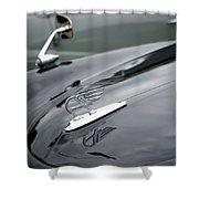 Classic Austin Car Bonnet Badge Shower Curtain
