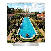 Classic Awesome J Paul Getty Architectural View Villa  Shower Curtain