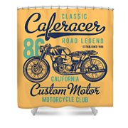 Classic Caferacer Road Legend Shower Curtain