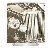 Classic Car Chrome Shower Curtain