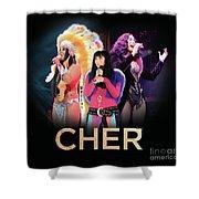 Classic Cher Trio Shower Curtain