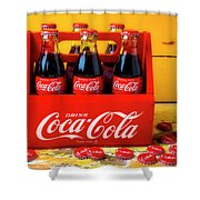 Classic Six Pack Of Cokes Shower Curtain