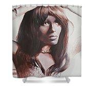 Claudia Lennear.brown Sugar.lady Grinning Soul Shower Curtain