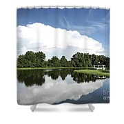 Clear Reflection Shower Curtain