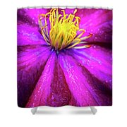 Clematis Flower Shower Curtain